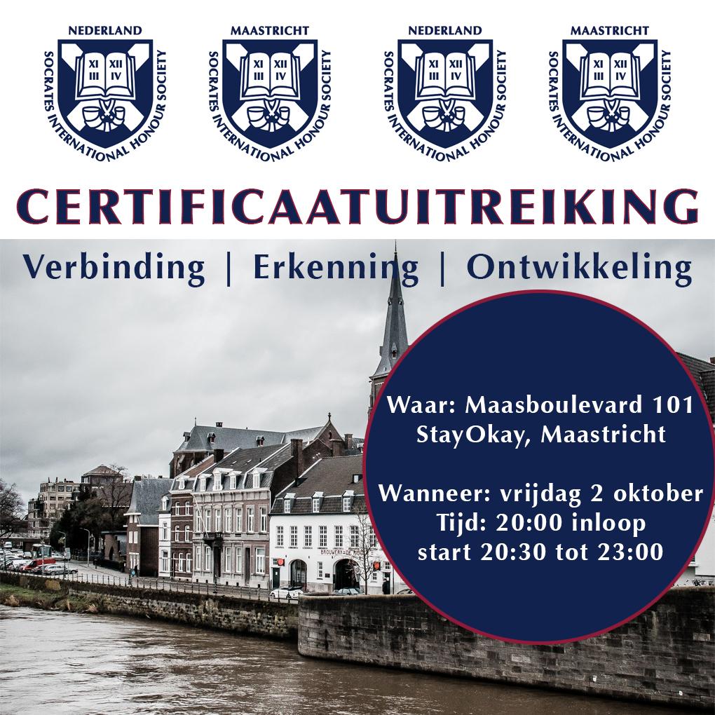 Certificaatuitreiking Maastricht