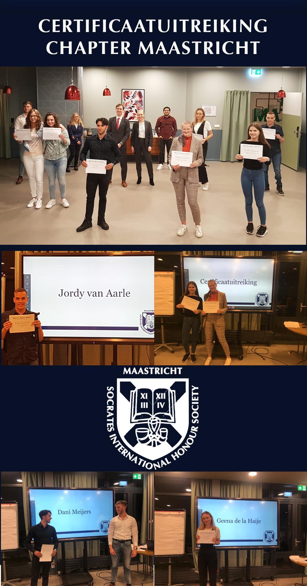 Certificaatuitreiking Chapter Maastricht