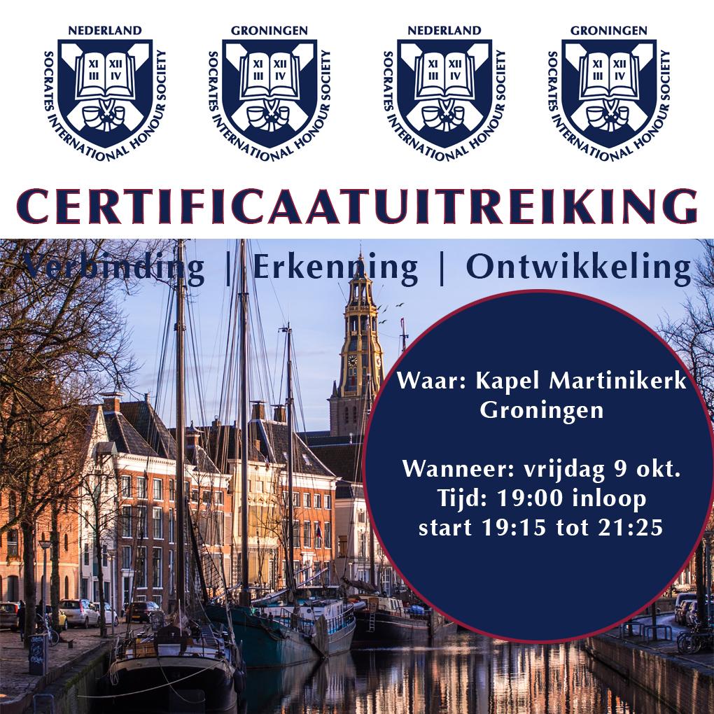 Certificaatuitreiking Groningen