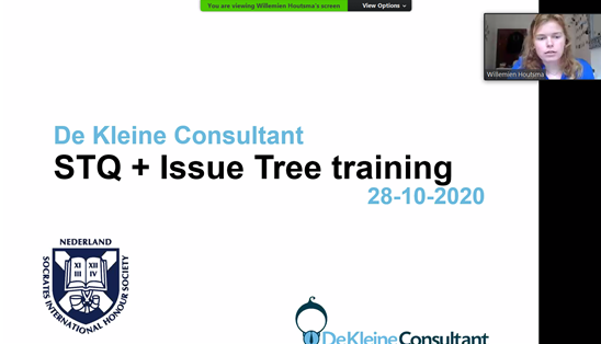 Training issue trees De Kleine Consultant